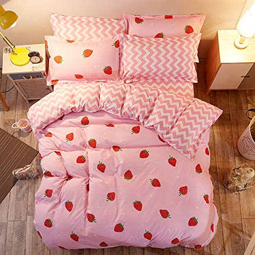 Strawberry Duvet Cover Set Twin Size Strawberry...