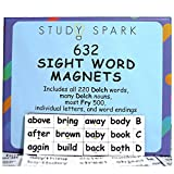 Sight Word Magnets - 632 Magnets Including All 220 Dolch Sight Words, Many Dolch Nouns, Lots of Fry 500 - Make Sentences and Improve Reading with Huge Selection of Magnetic Words