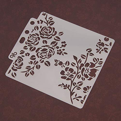 Haven Shop DIY sjablonen sjabloon, bloemen schilderen Scrapbooking embossing stempelen album ambachten