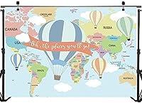 New210x150cm背景背景ビニールビニール旅行熱気球簡単にきれいな誕生日の壁の背景写真スタジオの背景撮影ビデオ背景パーティーの写真撮影の背景のカーテン