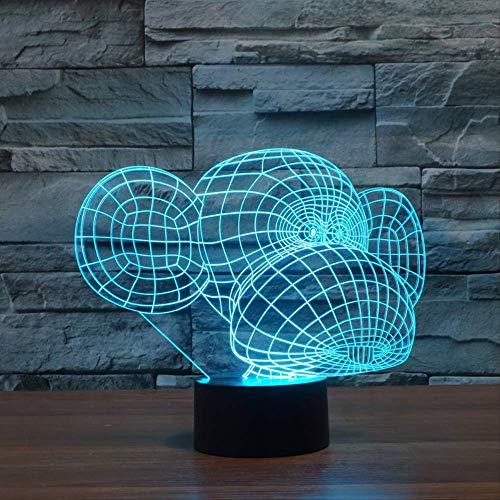 Gorilla 3D-acryl, kleurverandering, apen-nachtlampje