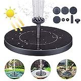Bomba de Agua Solar, 1.4W Bomba de Fuente Solar Bomba Agua Sumergible Solar Bomba Sumergible Kit, Solar Bomba con Panel Solar Flotante y 4 Boquillas para Piscina, Estanque, Decoración de Jardín