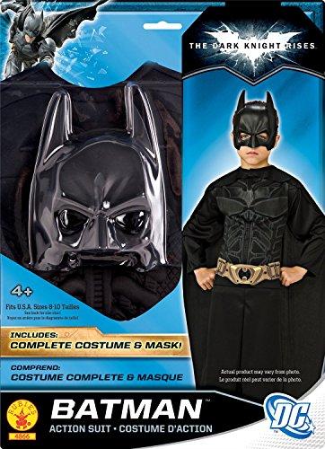 KULTFAKTOR GmbH Batman Dark Knight Kinderkostüm schwarz 128/140 (8-10 Jahre)