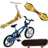 Aiyrchin Mini Dedo Juguetes Set Dedo Skateboards Bikes Fingerboards Mini Deportes Regalos De Cumpleaños 4 Piezas