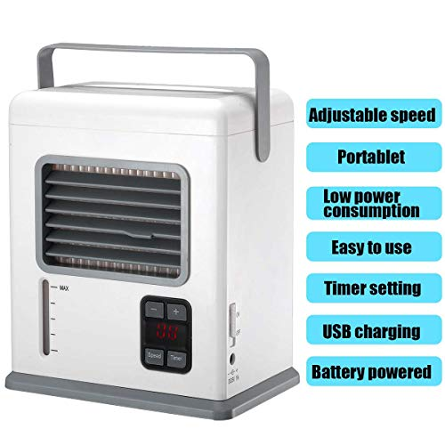 Tragbarer Luftkühler,Mit USB Ventilatoren Air Cooler,3 Speed Desktop-Lüfter Verdunstungsbefeuchter Mobile Klimaanlage,Für Haus,Zimmer,Büro