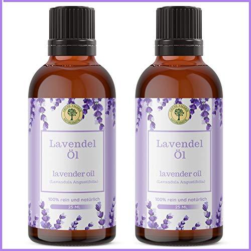 Lavendelöl Set 2 x 25 ML | Grüne Valerie| Naturrein aus echtem Lavendel (Lavandula Angustifolia) | Einschlafhilfe & Raumduft |Diffuser |Aromatherapie |Therapeutic Grade A + Hologramm