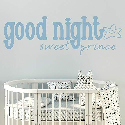 BFMBCH Gute nacht süße pro prince wandaufkleber baby schlafzimmer kindergarten vinyl wohnzimmer Nordic dekoration wandaufkleber A2 57x167 cm