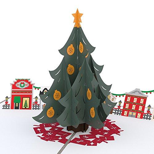 Lovepop Christmas Tree Village Pop Up Card - 3D Cards, Christmas Pop Up Cards, Holiday Pop Up Cards, Merry Christmas Cards, Religioud Christmas Cards