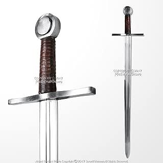 Handmade Peened Full Tang Norman Medieval Crusader Arming Sword Spring Steel