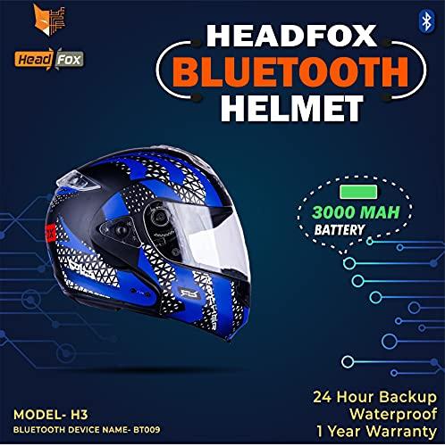 Headfox HY Smart Bluetooth H3 Motorbike Helmet HY- Roker