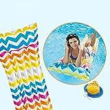 Hamaca inflable del agua, flotador portátil de la piscina, hamaca del flotador de la tumbona de la piscina inflable, silla flotante ligera flotante del aire de la piscina de las balsas,waves