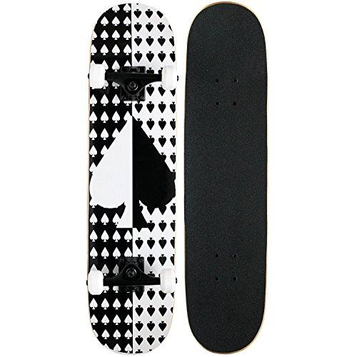 KPC Pro Skateboard Complete, Black and White Checker