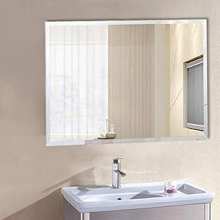 50 * 70 cm pour la Salle de Bain Miroir Mural Rectangulaire sans Cadre Miroir de Salle de Bains Le Dressing Commande par Effleurement Blanc Froid LED Miroir la Chambre et Le Salon
