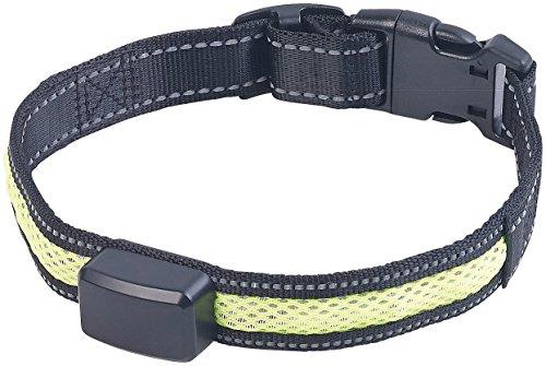 infactory Leuchthalsband: LED-Leuchtband mit kinetischer Leucht-Funktion, für mittelgroße Hunde (Hunde Leuchthalsband)