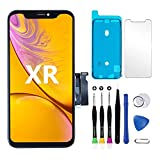 for iPhone Xr Screen Replacement Touch Screen LCD Display Digitizer iPhone XR Frame Assembly Repair Tool and Adhesive Strips Compatible with Model A1984, A2105, A2106, A2108