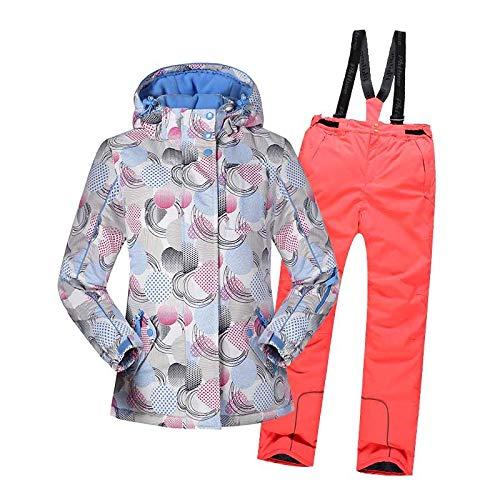 Winter-mit Kapuze Snowsuit mit Hose, Windundurchlässig Skijacke für Kinder,C,140