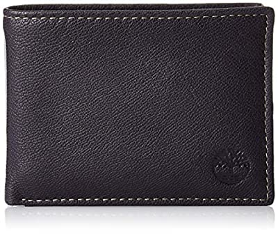 Timberland Men's Leather RFID Blocking Passcase Security Wallet, Navy Blue, One Size
