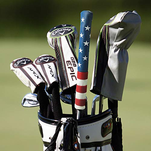 Craftsman Golf Stars and Stripes Red White Blue USA Flag Alignment Stick Cover Case Holder