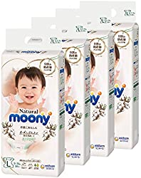 Moony Natural Tape L, 38 Count (Pack of 4)