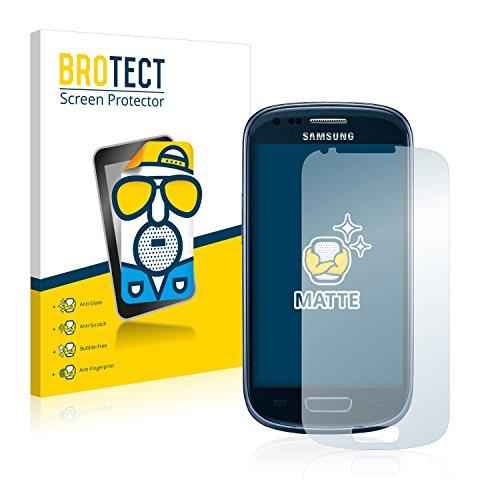 BROTECT 2X Entspiegelungs-Schutzfolie kompatibel mit Samsung Galaxy S3 Mini I8190 Bildschirmschutz-Folie Matt, Anti-Reflex, Anti-Fingerprint