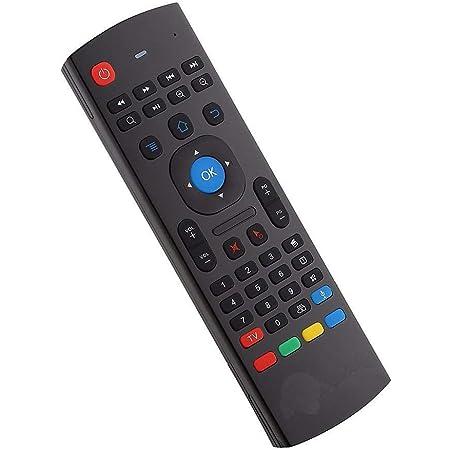 YFish Mando a Distancia con Mini Teclado Universal Inalámbrico 2 en 1 Sirve como Ratón Air Mouse Inteligente para Tele Ordenador Smart TV Box con ...
