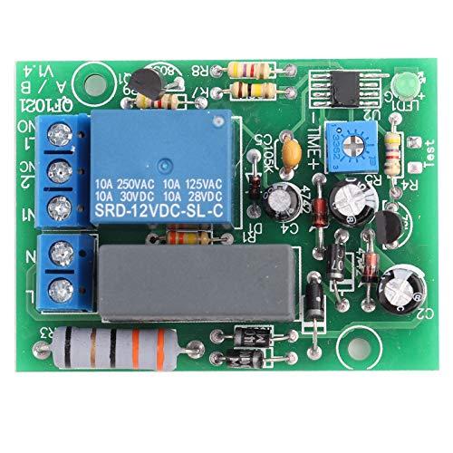 Delay Relay Delay AC 220V, Temporizador de Módulo de Interruptor de Retardo Ajustable de 0-10s, 0-10min, 0-100min, 0-10h(0~100min Delay Time)