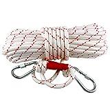Corda da ausiliaria per Arrampicata Lunghezza 40m*Ø1,2cm*2,5mm Nylon in Filo di Acciaio Corda da Arrampicata