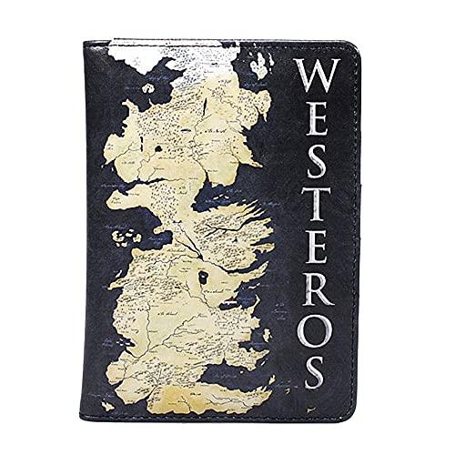 Juego de Tronos Westeros Map Pasaporte tarjeta de viaje en caja