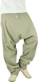 Mens Yoga Pants Mens Harem Pants for Men Wide Leg Pants Men Drop Crotch Pants - Freudentanz