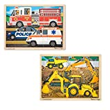 Melissa & Doug 24pc Jigsaw Bundle - Construction and Rescue