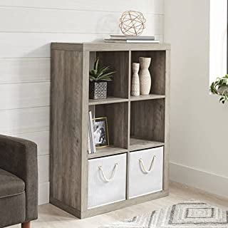 Better Homes and Gardens 6-Cube Decorative Organizer in Finish (Rustic Gray)