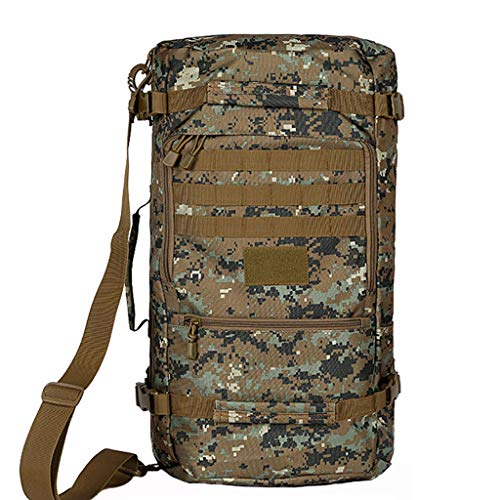 XYW-0006 Sac de Voyage en Plein air pour Alpinisme Sac en Tissu Oxford en Tissu imperméable résistant à l'usure pour Homme et Femme Camouflage Jungle 50L60L-RAIN Cover