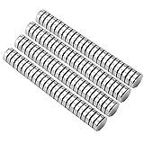 Piccoli magneti multiuso per frigorifero, scienza, artigianato - Disco rotondo piccolo, argento, 5 mm x 1 mm (0,2 pollici), 100 pezzi