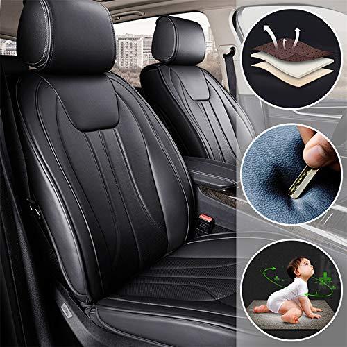 Muchkey Sitzbezügesets Autositzauflage 5-Sitze Alle Jahreszeiten Leder für KIA K2 K3 K4 K5 K7 K9 Zubehör für Autositze Stil E schwarz