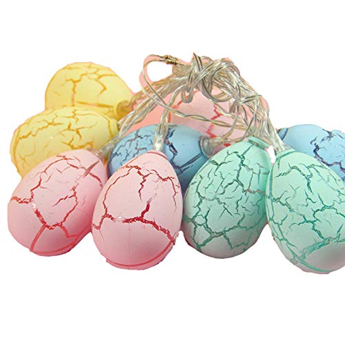 fuchsiaan Colorful Easter Egg Light, Glittery Lighting Chain Reusable Festival Decor for Spring Party, Bedrooms, Porches, Stairs, Fireplaces, Gardens, Trees 1