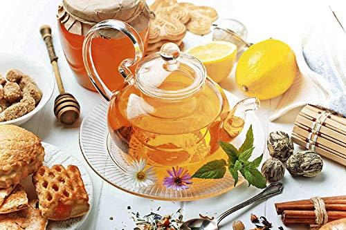 Thee met honing en gebak metalen bord bord gebogen metalen plaat metalen plaat plaat plaat metaal Tin Sign 20 x 30 cm