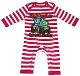 HARIZ Baby Strampler Streifen Weltbester Grosser Bruder Trecker Weltbester Grosser Bruder Inkl. Geschenk Karte Feuerwehr Rot/Washed Weiß 3-6 Monate