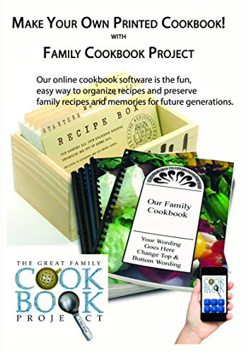 Family Cookbook Making Software Including 5 Printed Copies of Your Custom Cookbook! - Create...