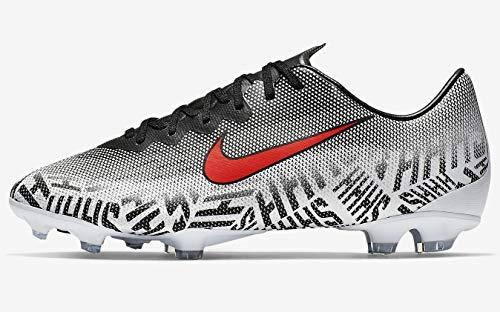 Nike Junior Vapor 12 Elite NJR FG Football Boots AV4792 Soccer Cleats (UK 5.5 us 6Y EU 38.5, White Challenge red Black 170)