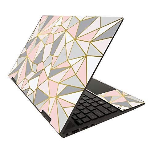 """MightySkins Skin for HP Envy x360 15"""" (2020) - Rose Gold Polygon   Protective, Durable, and Unique Vinyl Decal wrap Cover   Easy to Apply, Remove, and Change Styles   Made in The USA, Solid Lavender"""