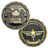 Army Challenge Coin Army Call on Me Brother Military Coin