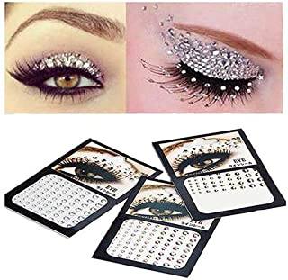 eye makeup with gems
