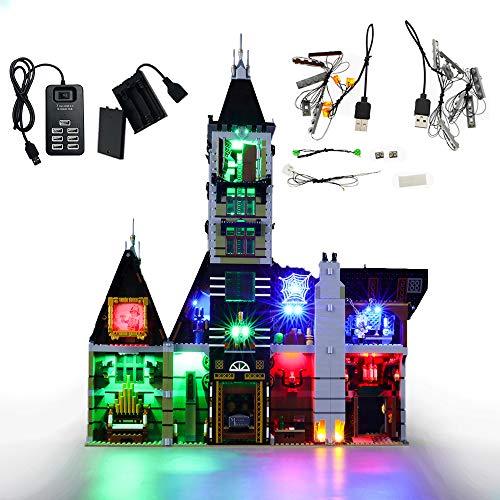 GEAMENT Kit de luz LED para casa encantada – Compatible con LEGO Creator Fairground Collection 10273 modelo de bloques de construcción (juego LEGO no incluido) (incluye instrucciones)