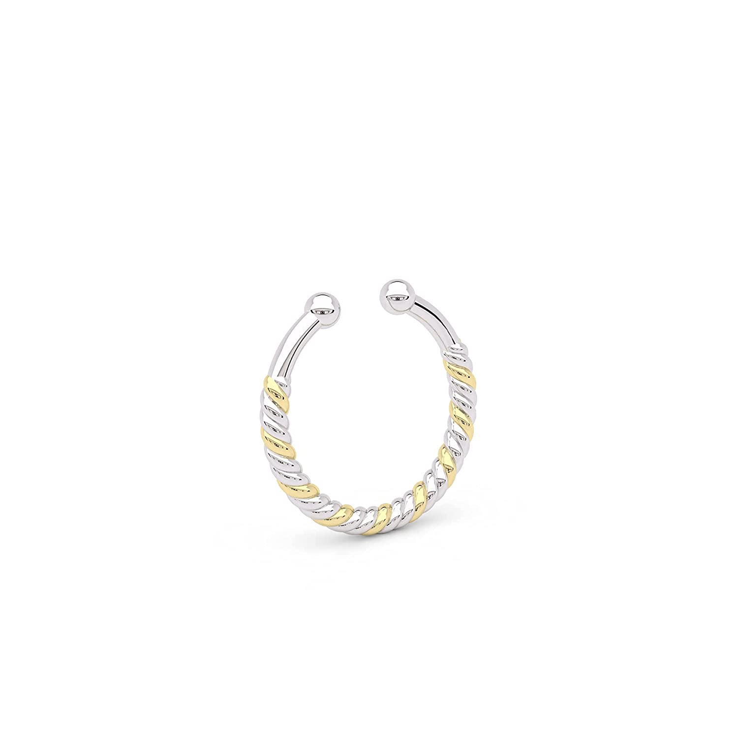 Dainty Fake Max 72% OFF Max 53% OFF Twisted Wire Septum Nose Brass Faux Ring And Unique