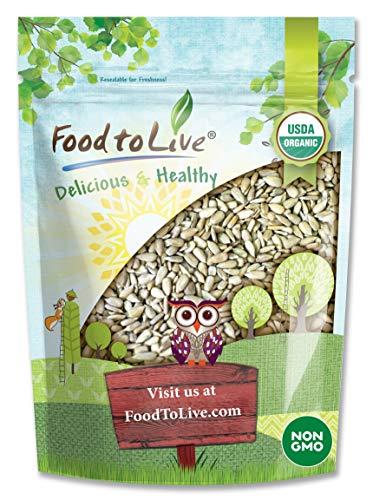 Organic Sprouted Sunflower Seeds, 1 Pound — Non-GMO, Kosher, No Shell, Unsalted, Raw Kernels, Vegan Superfood, Sirtfood, Bulk Minnesota