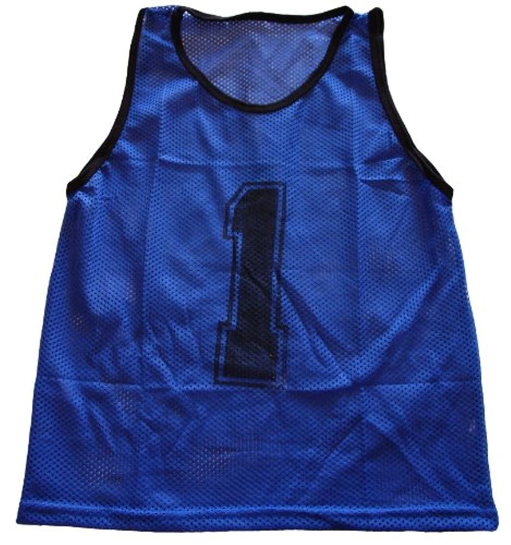 Workoutz Numbered Adult Blue Scrimmage Vest Set (12 Qty) Soccer Pinnies wzyxubms1