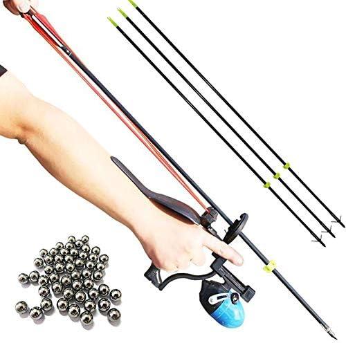 HANDBAIGE ABS Fishing Hunting Slingshot Set High Velocity Catapult Kit Bowfishing Shot Archery product image