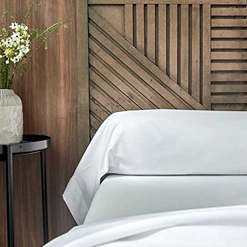 Funda de almohada lavable | Juego de 5 fundas de almohada blancas lavables | Cama de 2 plazas | Dimensiones 85 x 185 cm |