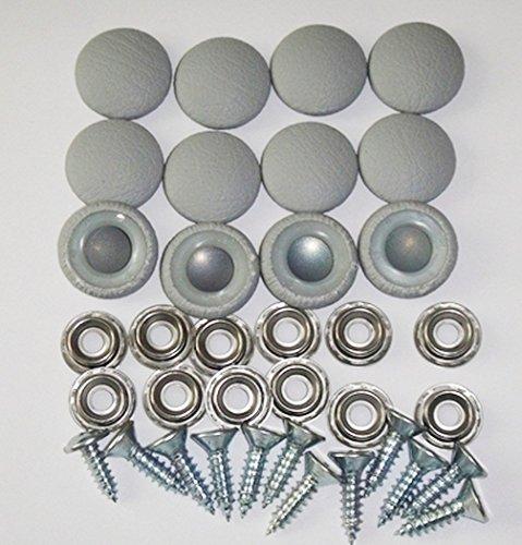 Set Of 12 Dura Snap Upholstery Buttons #30 Platinum Gray Vinyl