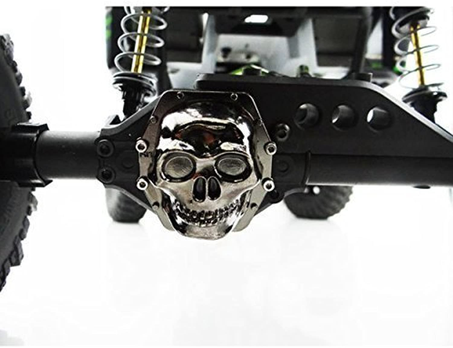 Hot Racing WRA12CT01 Metal Skull AR60 Diff Cover (Black Chrome)  Yeti by Hot Racing